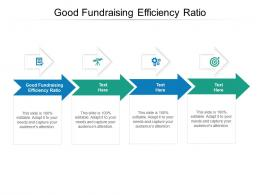 Good Fundraising Efficiency Ratio Ppt Powerpoint Presentation Inspiration Layout Cpb