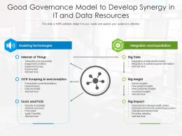Good Governance Model To Develop Synergy In It And Data Resources