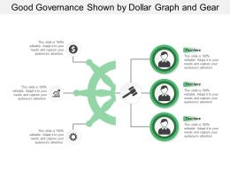 Good Governance Shown By Dollar Graph And Gear