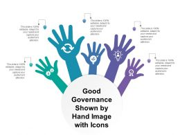 Good Governance Shown By Hand Image With Icons