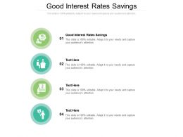 Good Interest Rates Savings Ppt Powerpoint Presentation Show Files Cpb