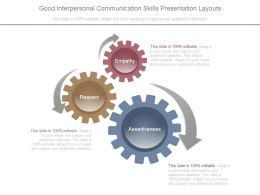 Good Interpersonal Communication Skills Presentation Layouts