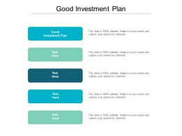 Good Investment Plan Ppt Powerpoint Presentation Layouts Grid Cpb