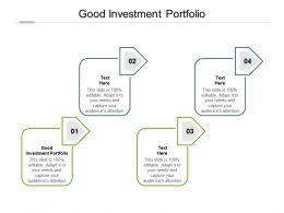 Good Investment Portfolio Ppt Powerpoint Presentation Styles Example Topics Cpb