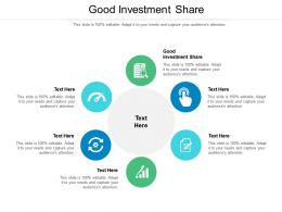 Good Investment Share Ppt Powerpoint Presentation Icon Professional Cpb