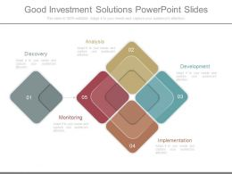 Good Investment Solutions Powerpoint Slides