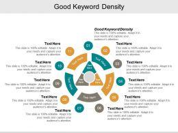 Good Keyword Density Ppt Powerpoint Presentation Pictures Slideshow Cpb