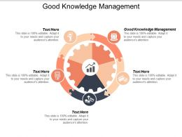 Good Knowledge Management Ppt Powerpoint Presentation Styles Templates Cpb