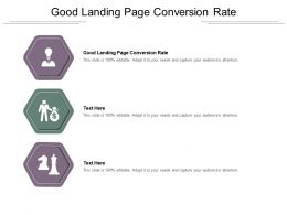 Good Landing Page Conversion Rate Ppt Powerpoint Presentation Ideas Topics Cpb