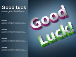 Good Luck Message In Best Wishes