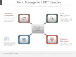 Good Management Ppt Samples