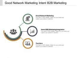 Good Network Marketing Intent B2b Marketing Integration Marketing Information Cpb