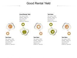 Good Rental Yield Ppt Powerpoint Presentation Portfolio Icons Cpb