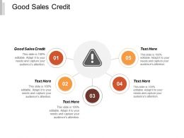 Good Sales Credit Ppt Powerpoint Presentation Icon Portfolio Cpb