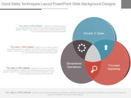 Good Sales Techniques Layout Powerpoint Slide Background Designs