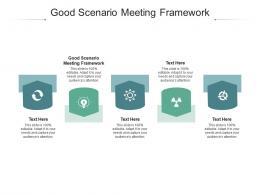 Good Scenario Meeting Framework Ppt Powerpoint Presentation Model Layout Cpb