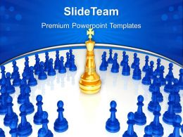 Good Strategy Game Templates Chess King Surrounded Chart Ppt Design Slides Powerpoint