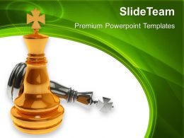 Good Strategy Game Templates Chess King Winner Success Diagram Ppt Slide Designs Powerpoint