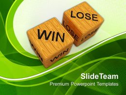 Good Strategy Game Templates Dice Win Vs Lose Future Teamwork Ppt Slide Designs Powerpoint