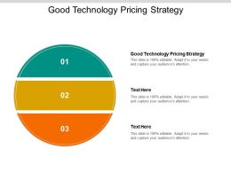 Good Technology Pricing Strategy Ppt Powerpoint Presentation Portfolio Grid Cpb