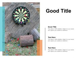 Good Title Ppt Powerpoint Presentation Gallery Background Images Cpb