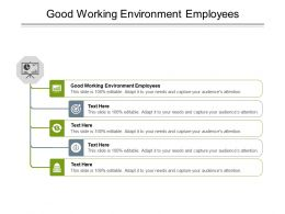 Good Working Environment Employees Ppt Powerpoint Presentation Infographics Examples Cpb