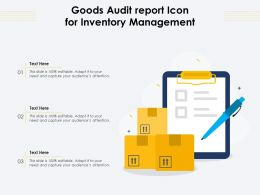 Goods Audit Report Icon For Inventory Management