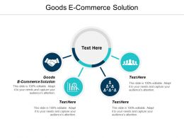 Goods E Commerce Solution Ppt Powerpoint Presentation Infographic Template Guidelines Cpb