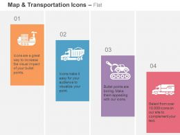Goods Ship Truck Car Loader Heavy Truck Ppt Icons Graphics