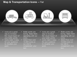 Goods Shipping Transport Trucks Forklift Ppt Icons Graphics