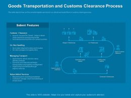 Goods Transportation And Customs Clearance Process Flow Ppt Powerpoint Presentation Guidelines