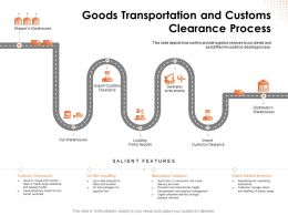 Goods Transportation And Customs Clearance Process Storage Powerpoint Presentation Format