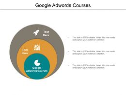 Google Adwords Courses Ppt Powerpoint Presentation Portfolio Deck Cpb