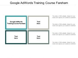 Google Adwords Training Course Fareham Ppt Powerpoint Presentation Gallery Graphics Cpb