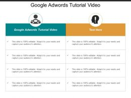 Google Adwords Tutorial Video Ppt Powerpoint Presentation Portfolio Inspiration Cpb
