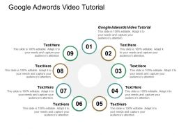 Google Adwords Video Tutorial Ppt Powerpoint Presentation Portfolio Model Cpb