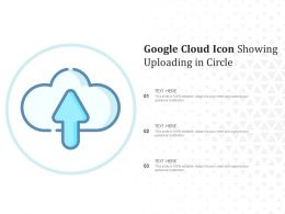 Google Cloud Icon Showing Uploading In Circle
