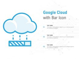 Google Cloud With Bar Icon