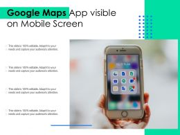 Google Maps App Visible On Mobile Screen