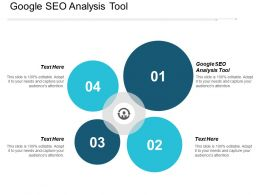Google Seo Analysis Tool Ppt Powerpoint Presentation Gallery Graphics Pictures Cpb