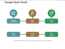 Google Stock Worth Ppt Powerpoint Presentation Portfolio Show Cpb