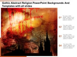 Gothic Abstract Religion Powerpoint Backgrounds And Templates With All Slides