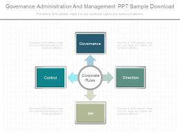 Governance Administration And Management Ppt Sample Download