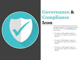 Governance And Compliance Icon Ppt Design