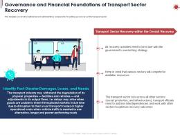 Governance And Financial Foundations Of Transport Sector Recovery Ppt Powerpoint Presentation Ideas