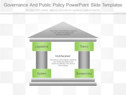 Governance And Public Policy Powerpoint Slide Templates