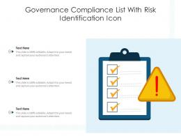 Governance Compliance List With Risk Identification Icon