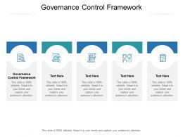 Governance Control Framework Ppt Powerpoint Presentation Show Cpb
