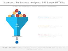Governance For Business Intelligence Ppt Sample Ppt Files