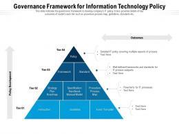 Governance Framework For Information Technology Policy